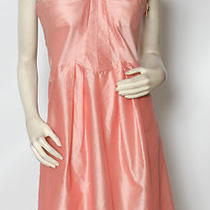 Luca Luca Carolina Blush Pink Taffeta Silk Cocktail Party Dress Sz 10 Nwt 1650 Photo