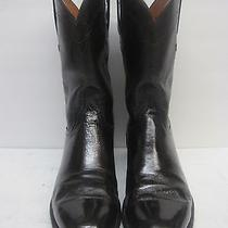 Lucchese (1883) Antique Brown Buffalo Roper 9.5 D Men's Boots Photo