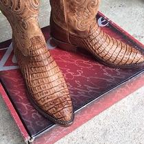 Lucchese Boots Genuine Hornback Caiman Alligator Belly Skin T3410 Size 9d Photo