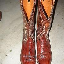 Lucchese Boots M1309bn 2l615 8.5d Vintage Model W/tooled Co. Name Inside Crown Photo
