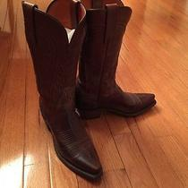 Lucchese Brown Cowboy Boots Women's Size 6 B Photo