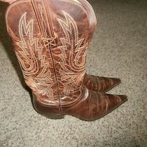 Lucchese Brown Leather Charlie Horse Womens  Cowboy Boots Size 6.5b 4518 Style Photo