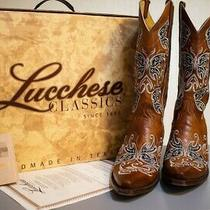 Lucchese Classics Women's Gb9285 5/4 Western Boot Size 9-Ccolor Cognac Burnish Photo