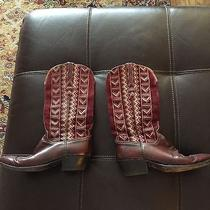 Lucchese Cowboy Boots Wine Color 8.5 Photo
