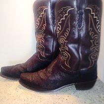Lucchese Custom Stingray Boots Men's Size 13 Photo