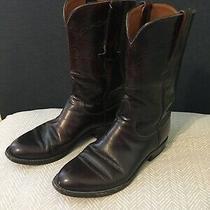 Lucchese L7010 Black Cherry Women Boots Cowboy Western Size 6.5b Photo