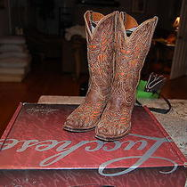 Lucchese Ladies Cowgirl Boots - Size 7-1/2 - Exc. Condition W/ Box Photo