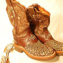Lucchese Leopard Women's Cowboy Boots 2000 High End T4623hd W/ Matching Belt  Photo