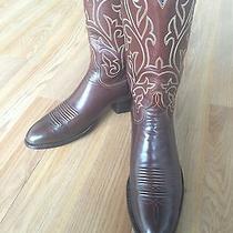 Lucchese Mahogany Brown Mens Cowboy Boots Sharp 9 N Photo