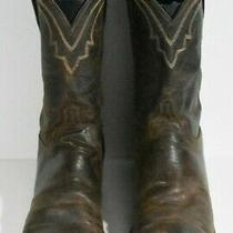 Lucchese Men 11 D Brown 2000 Series Western Leather Classic Boots Photo