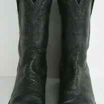 Lucchese Men 8.5 D Black Classic Smooth Ostrich Western Leather Classic Boots Photo