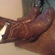 Lucchese Men's Boots Cognac Leather 9.5 Eee Photo