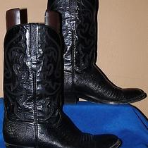 Lucchese Mens 10.5 D Black Lizard Skin 6-Stitch Cowboy/western Bootsgorgeous Photo