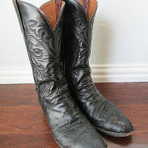 Lucchese Mens Black Western Cowboy Boots Size 10d Made in Usa Photo