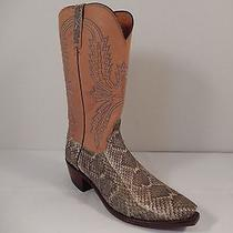 Lucchese Rare Diamond Back Rattle Snake Cowboy Boots Photo
