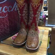 Lucchese Red Ostrich Boots Photo