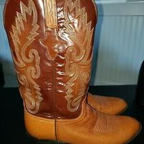 Lucchese Size 8 2e Brown Two Tone Boots Handmade Made in Usa Photo