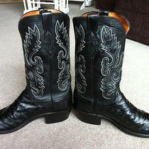 Lucchese W/ Box 10.5 D N1063 Ostrich Western Cowboy Boots Exotic Handmade Photo
