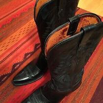 Lucchese Western Boots Black Women's Size 6.5 Barely Worn. Photo