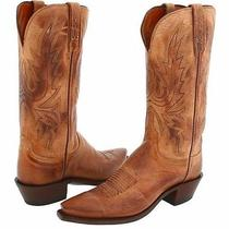 Lucchese Women's 1883 L4540 Mad Dog Goatskin Leather Western Boots - 5.5 B Photo