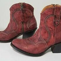 Lucchese Women's M4923  Boots Size 8 Black Cherry Photo