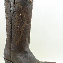 Lucchese Womens M3589 Chocolate Cowboy Western Boots Size 8.5 (1011509) Photo
