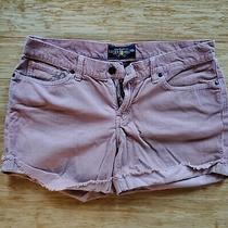 Lucky Brand 10 Corduroy Pink Jean Shorts Boho Blush Dusty Rose Euc  Photo