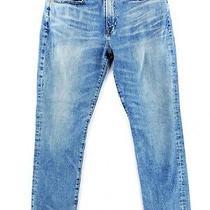 Lucky Brand 121 Slim Fit 33x32 Blue Jeans Stretch Denim Modern Casual Light Wash Photo