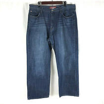 Lucky Brand 181 Relaxed Straight Mens Blue Jeans Medium Wash 38x30 Denim Photo