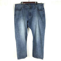 Lucky Brand 181 Relaxed Straight Mens Blue Jeans Medium Wash 42x32 Denim Photo