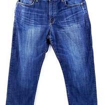 Lucky Brand 329 Classic Straight 38x28 Blue Jeans Stretch Denim Dark Wash Casual Photo