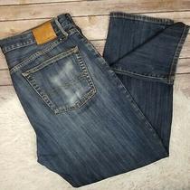 Lucky Brand 429 Classic Straight Jeans Men's Size 36 X 30 Dark Wash Blue Denim Photo