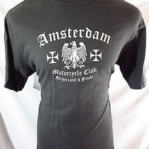 Lucky Brand Amsterdam Motorcycle Club Netherland's Finest Large Made in Usa Photo