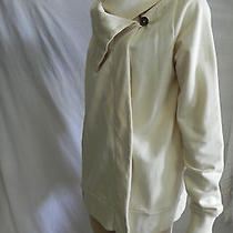 Lucky Brand Asymmetrical Ivory Draped Jacket Live in Love Size M Photo