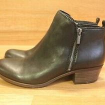 Lucky Brand Basel Women's Black Leather Ankle Boots Sz 8.5 M (C-207) Photo