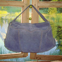 Lucky Brand  Beautiful Blue Suede Hobo & Gift Butterfly Keyrin Photo