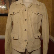 Lucky Brand Beige Button Up Corduroy Jacket-M Photo