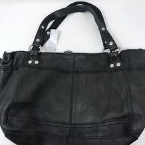 Lucky Brand Black Leather Slouchy Tote Hobo Shoulder Bag Handbag Purse Photo