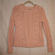 Lucky Brand Blush Pink Women's Knit Sweater Nwt Org 79.50 Photo