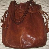 Lucky Brand Brown Lamb Leather Tulip Hobo Purse Handbag Photo