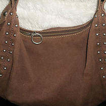 Lucky Brand  Brown  Studded Canvas Hobo Photo
