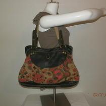 Lucky Brand Canvas Leather Tote Handbag Purse Bag Beautiful  Photo