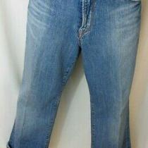 Lucky Brand Classic Rider Capri Medium Mid Jeans Open Pockets Size 12/31 Photo