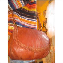 Lucky Brand  Cognac Brown Gathered Lamb Leather Ruffle Flap Xbody Bag  Nice Photo