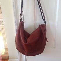 Lucky  Brand Cognac Leather Hobo/crossbody Bag Photo