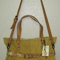 Lucky Brand Colexico Large Convertible Tote Squash Yellow Lb1711 Nwt Photo