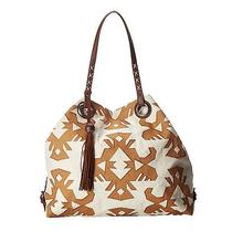 Lucky Brand Covina Tote Canvas Natural / Cognac Photo
