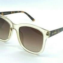 Lucky Brand D2006 Square Clear Taupe Brown Sunglasses 54 Mm New With Tags. Photo