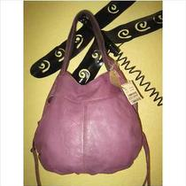 Lucky Brand Diana Lamskin Leather Beaded Bucket Hobo Violet Purple  Nwt     Photo