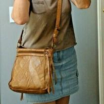 Lucky Brand Distress Fringe Leather Crossbody Messenger Handbag Boho Hobo Hippie Photo